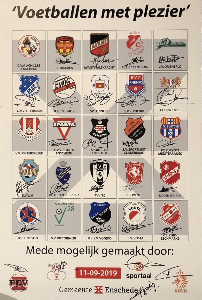 Enschedese clubs tekenen manifest &quote;Voetballen met plezier&quote;