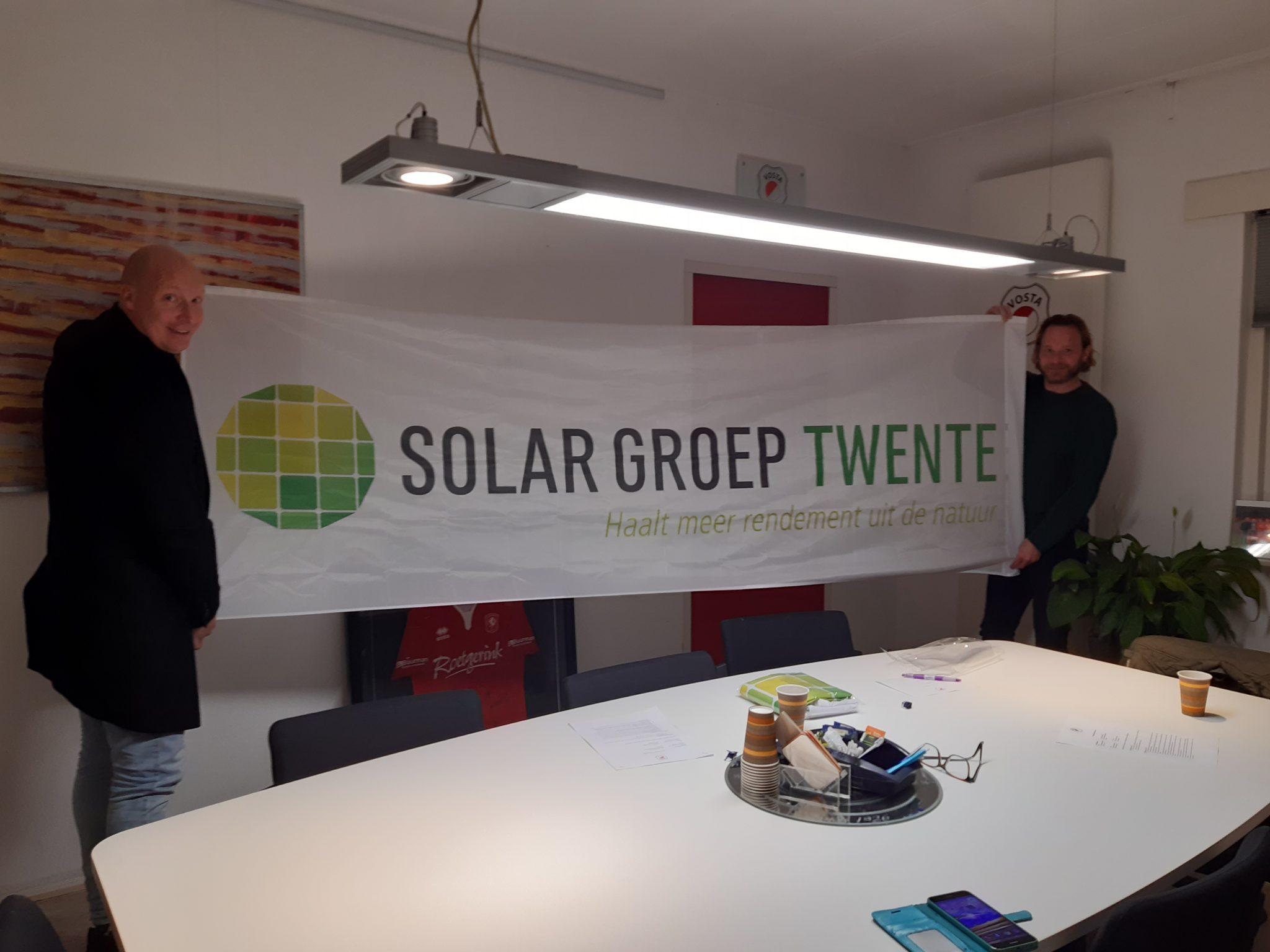Solar Groep Twente nieuwe hoofdsponsor S.V. Vosta